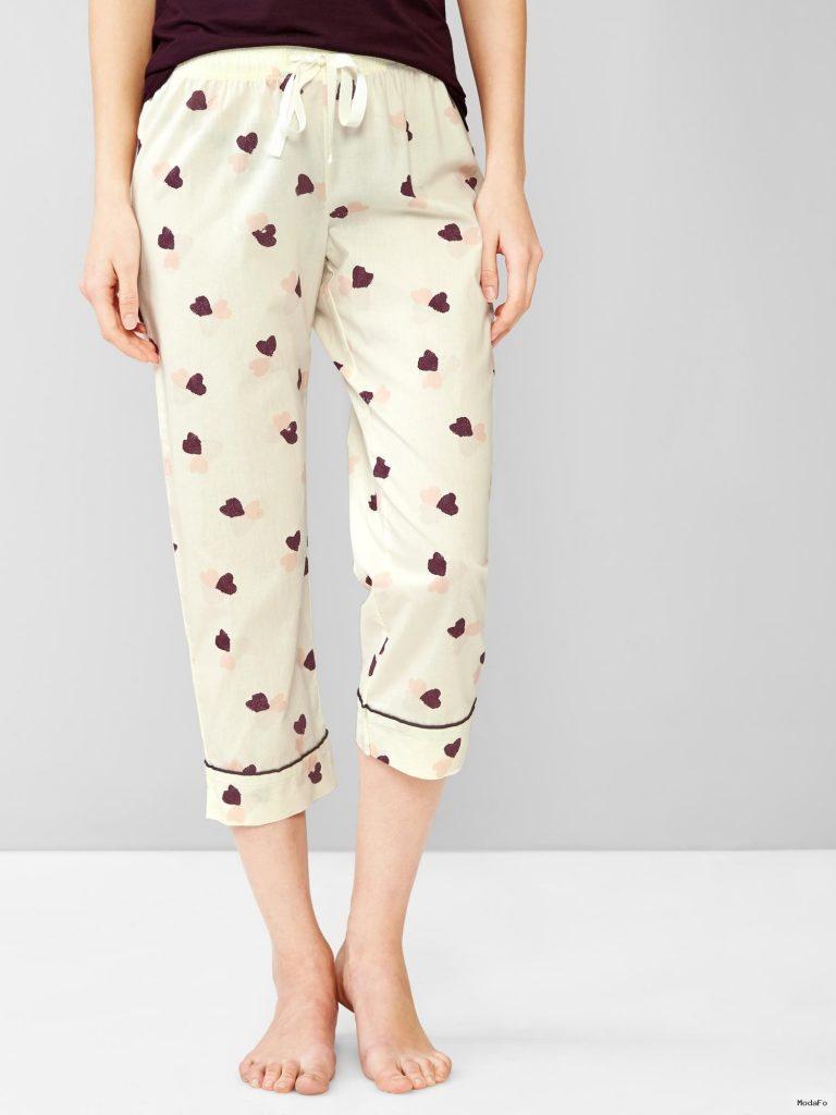 Desenli poplin kapri pijama altı | GAP