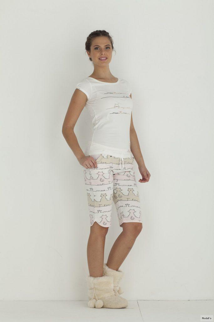 Hays Pissi Penye Bayan Kapri Pijama Takımı – Hays | İç Giyim …