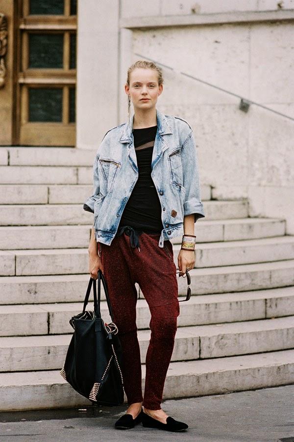 jogger-pants-street-style - Yüksek Bel Kotlar Tül Etekler Replum Elbise Normcore Tarzı Mode Kıyafetler Midi Etekler kreasyonlar Jogger Pantolonlar Demode Kıyafetler Dar Kotlar Beyaz Tulumlar