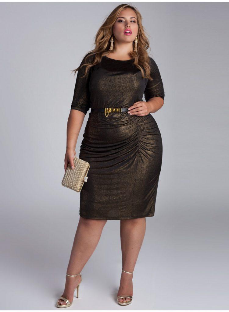 Büyük beden siyah elbise