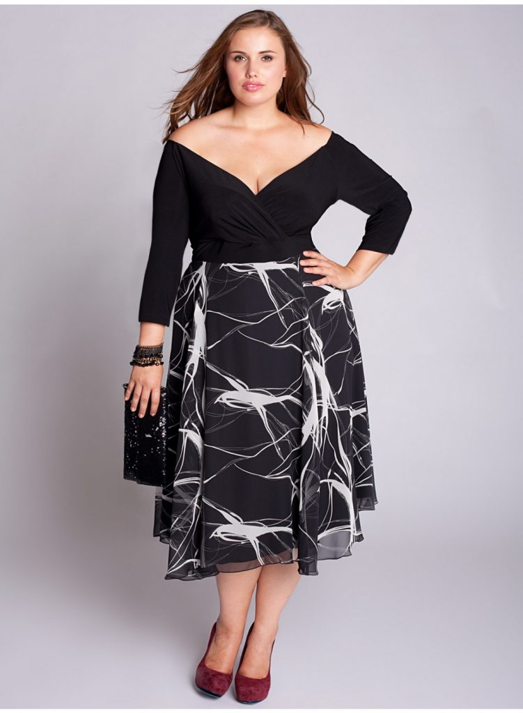 Büyük beden kokteyl elbisesi