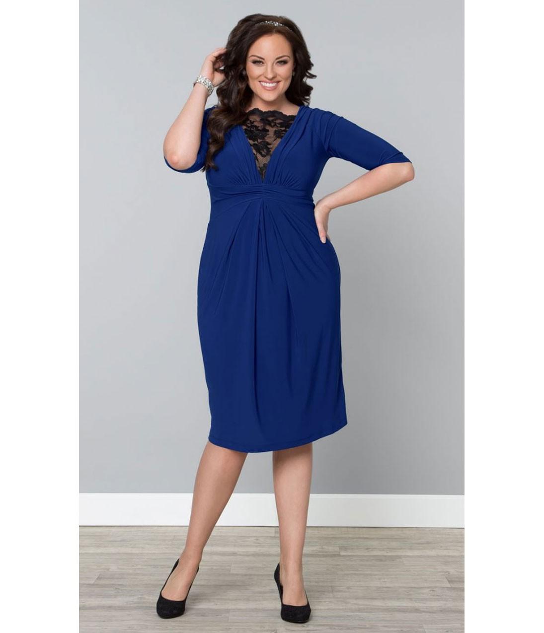 Büyük beden kobalt mavisi güpürlü kokteyl elbisesi - Kokteyl Elbiseleri elbise Büyük Beden Kokteyl büyük beden elbise büyük beden