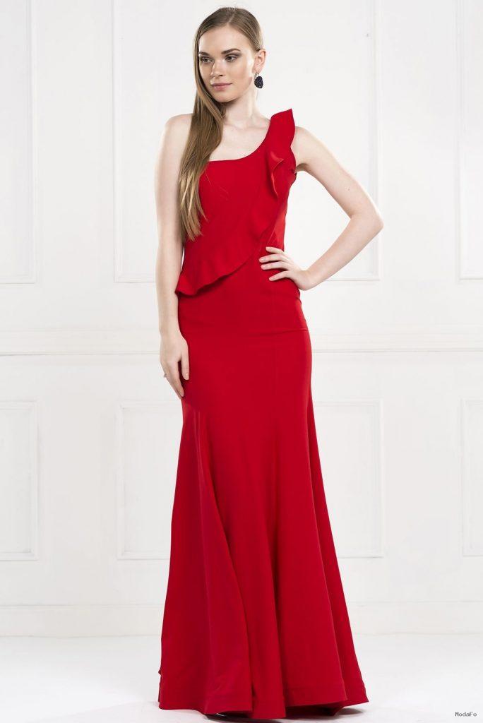 Kırmızı Apoletli Elbise