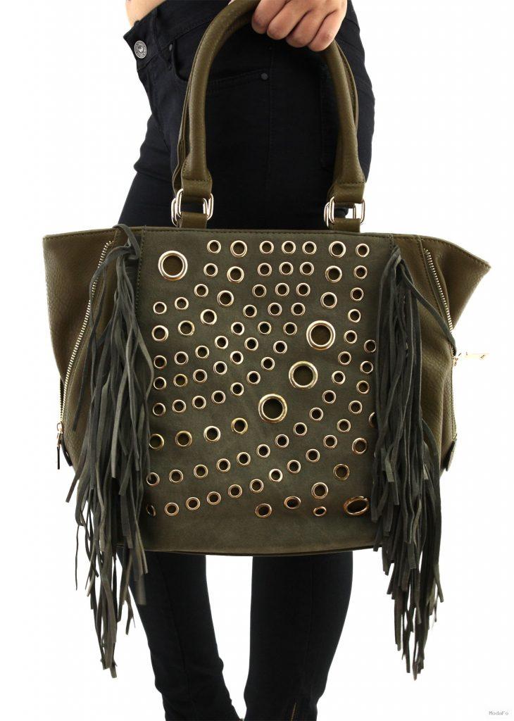 Metal Detaylı Çanta