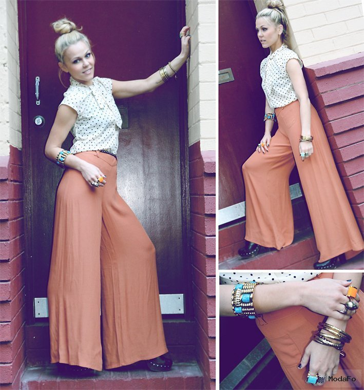 İspanyol Paça Pantolon Modelleri Bohem tarzi