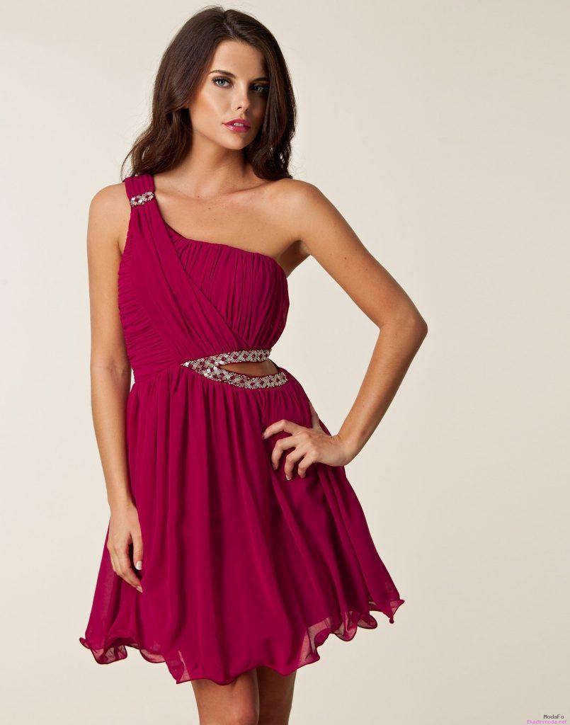 Tek omuz elbise modelleri 2015