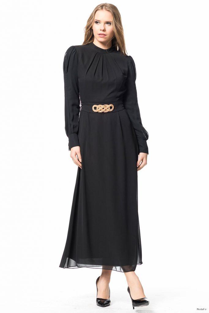 Uzun Apoletli Elbise