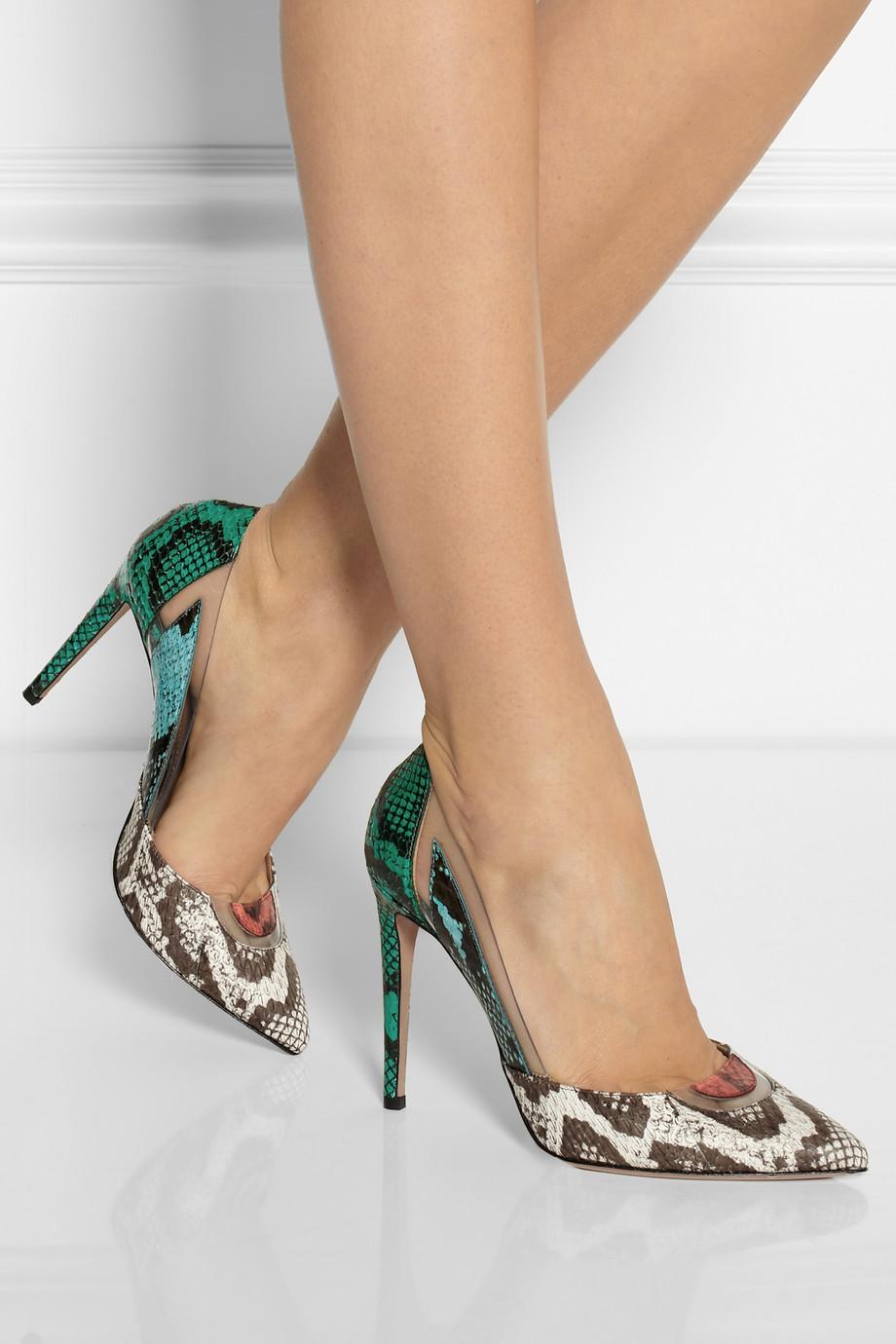 Aquazzura-Yılan-Derisi-Desenli-Topuklu-Stiletto-Ayakkabı-Modeli