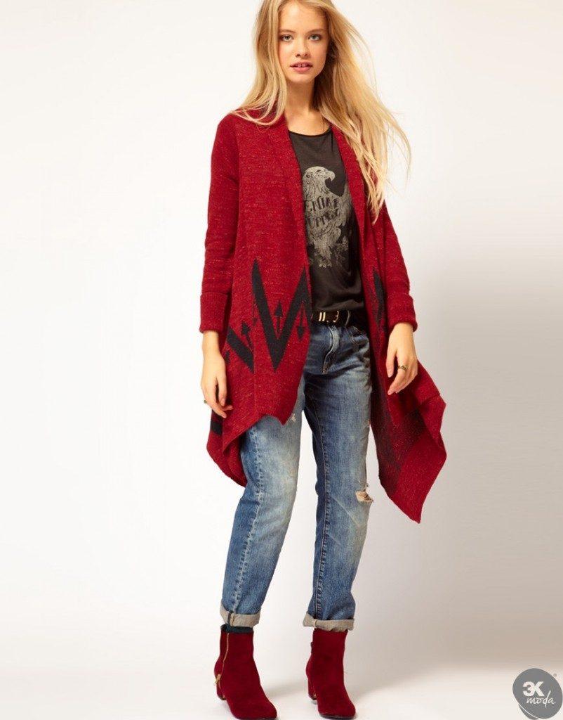 Kırmızı-Yeni-Uzun-Hırka-Modası