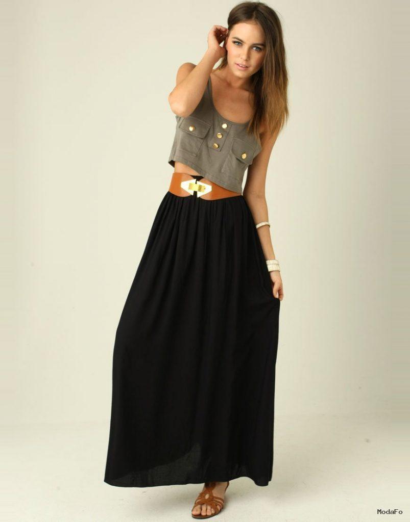An Dyer Wearing Bebe Pleated Long Skirt Maxi Skirt …