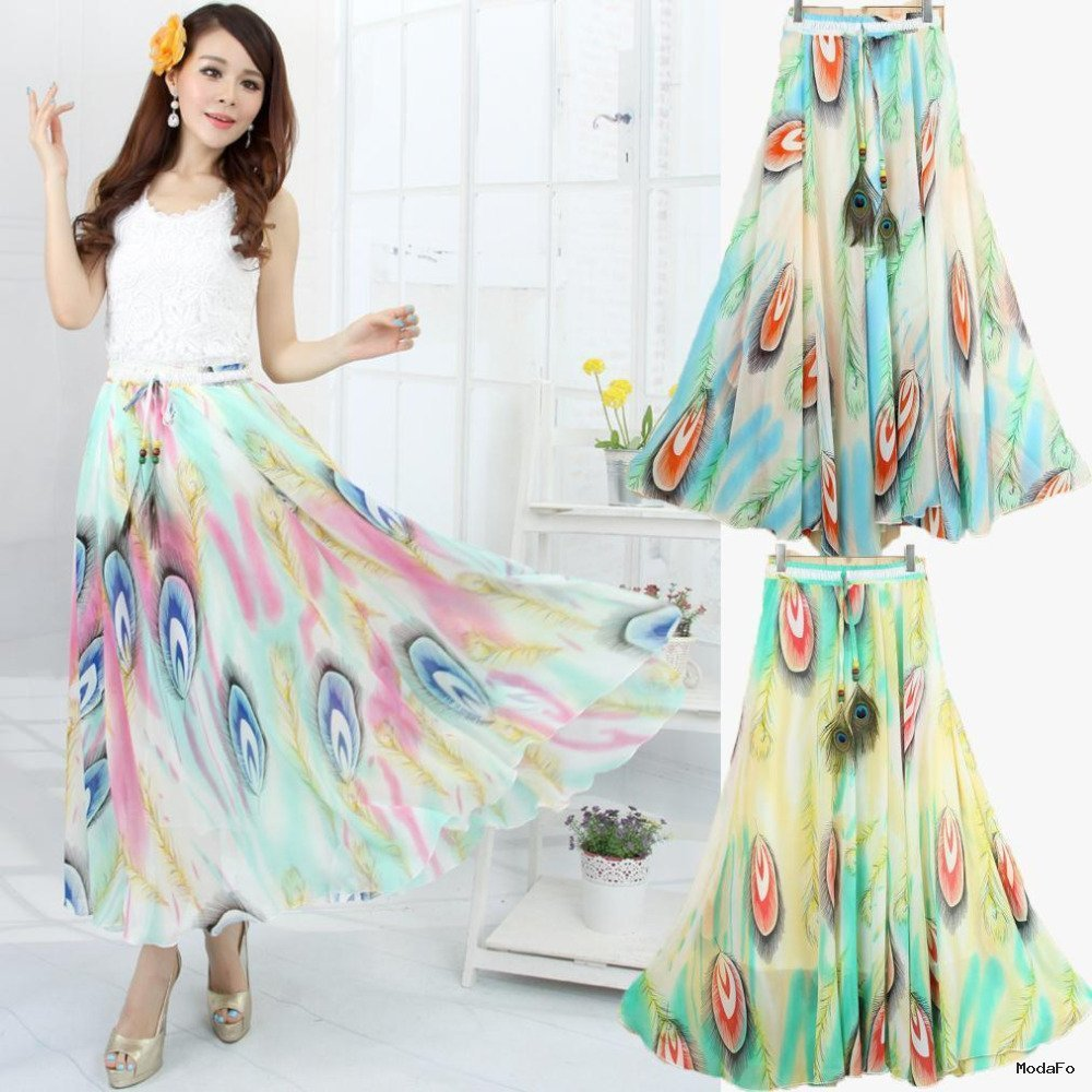 Buy printed women summer long skirts 2015 autumn …