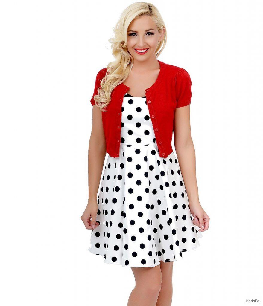 Cherry Red Short Sleeve Button Up Crop Cardigan | Unique Vintage
