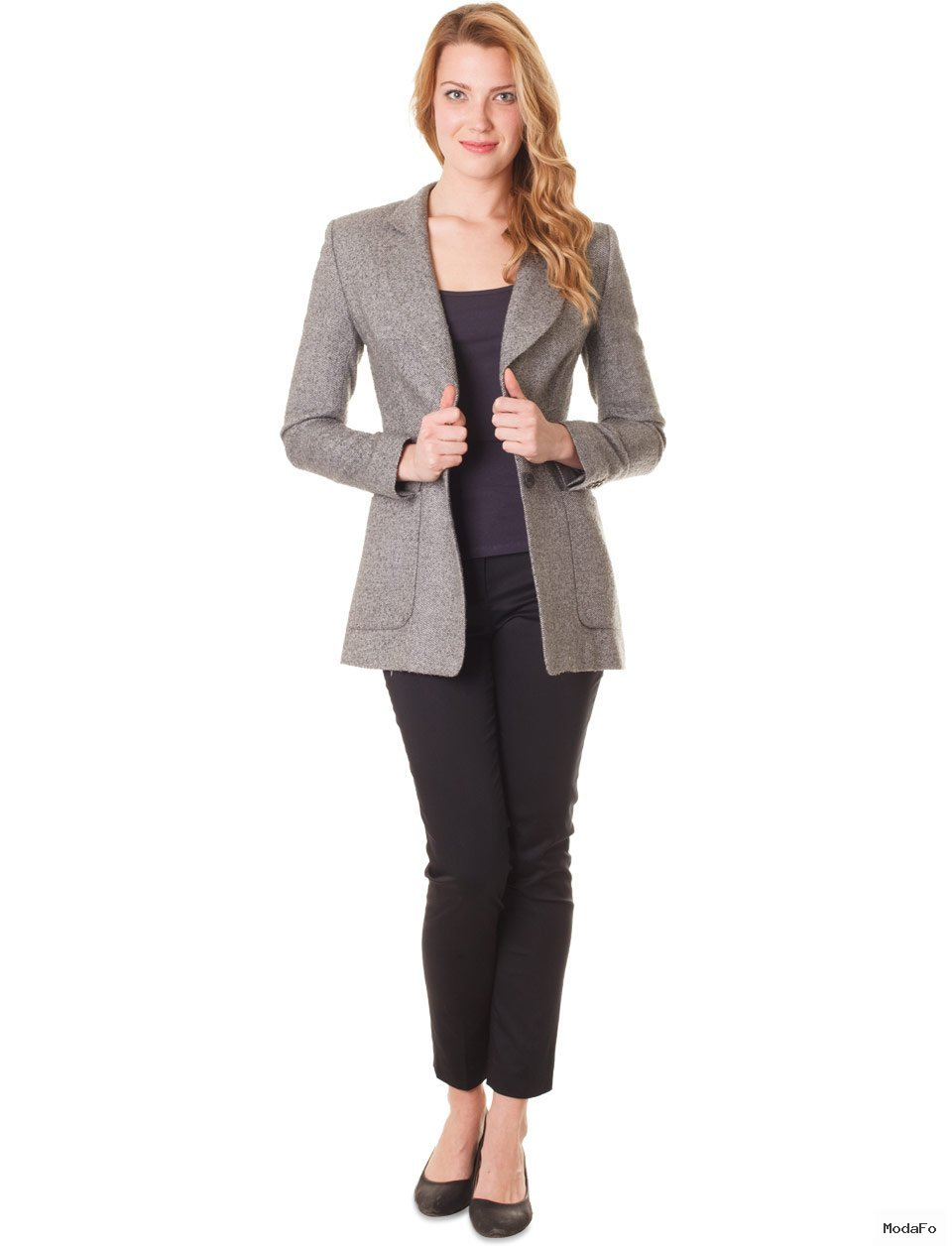 Gri Uzun Ceket - Herry - İdeal giysiler Fazlalıkları Gizlemek Büyük kalçalı kadınlar için giyim Basenler nasıl saklanır Basen Gizleme Basen Bölümü