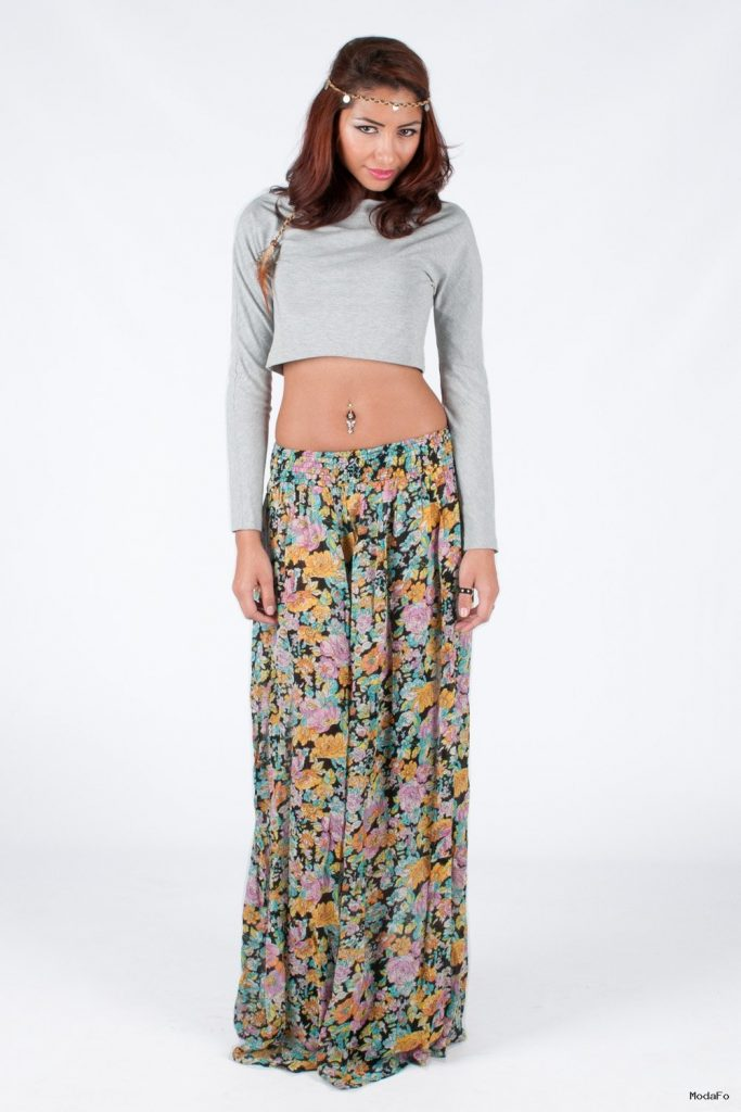 Long Floral Skirt | Despy