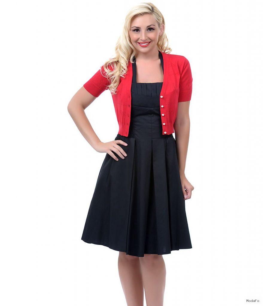SALE! Unique Vintage Red Dainty Pointelle Short Sleeve Cardigan …