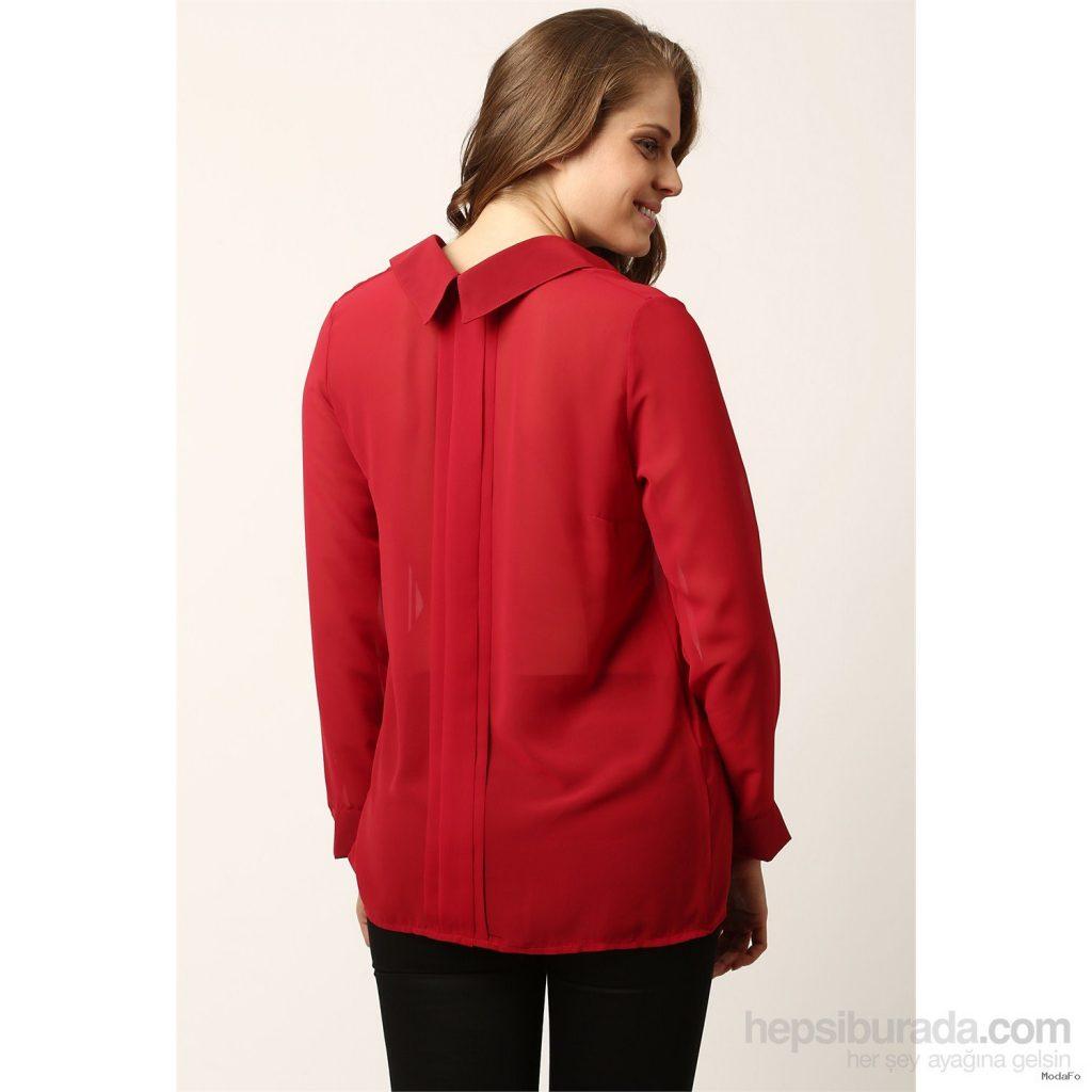 Şifon Gömlek Kırmızı