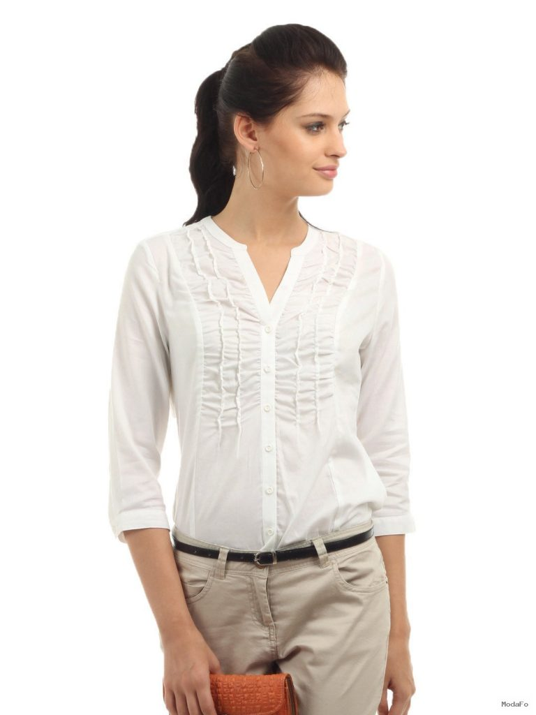 Wills Lifestyle Women White Shirt | Clairene Design