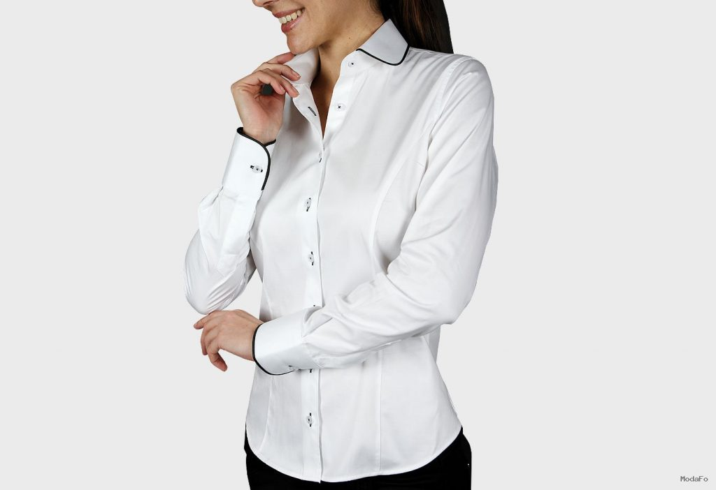 Women's Shirts – MF1AM1 – Woman shirt round collar – white …