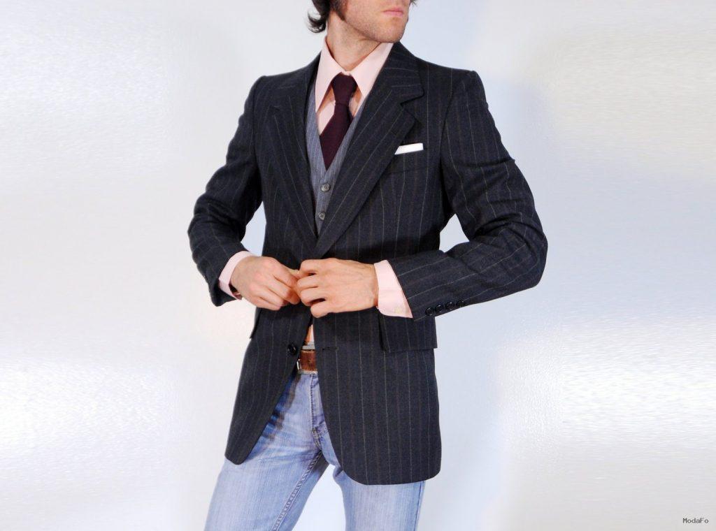 70s Mens Suit Blazer Pierre Cardin 100% by CarnivalOfTheManiac
