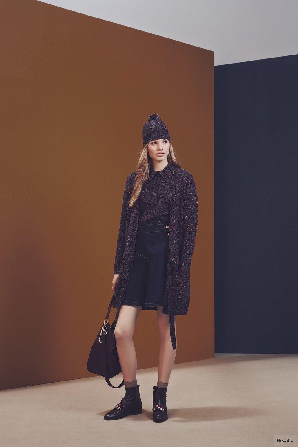 See-by-Chloé-Fall-Winter-2015- ... - Uzun hırka modelleri Uzun Hırka Kombinleri Uzun Hırka Modası Uzun Kış Modası Hırka Kombinleri