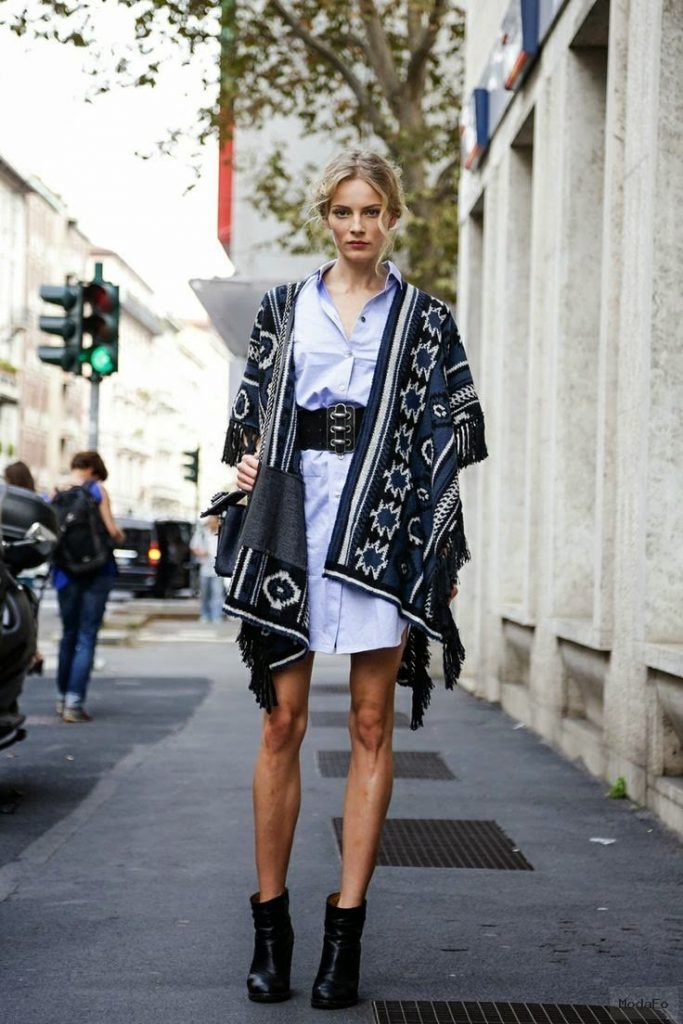 The Front Row View: Street Style Trend: Blanket Capes