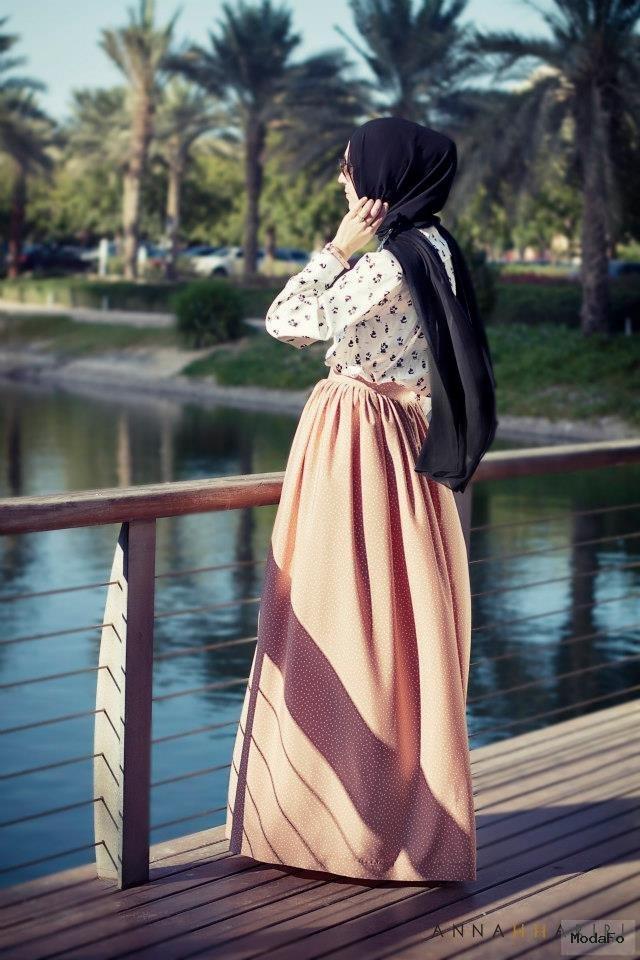 belden-pileli-uzun-etek-modeli – Tesettür Giyim …