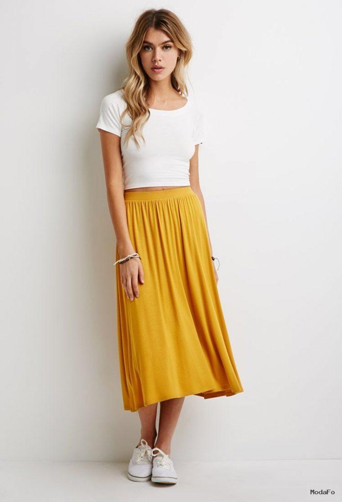 Wholesale Girls Latest Design Models Stretch-knit A-line Knee …