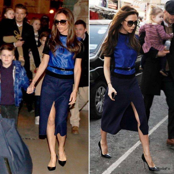 2014 Women's Victoria Beckham Designer Dress Suits Pleuche Top  …