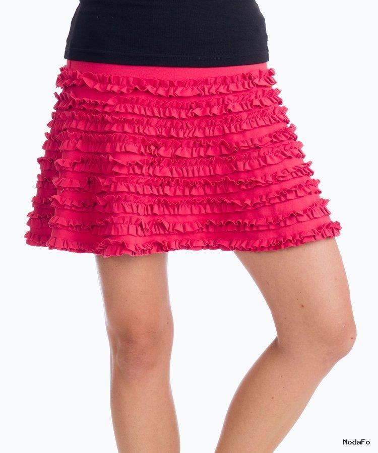 Beckons Organic Clothing | Beckons Grace Ruffled Mini Skirt