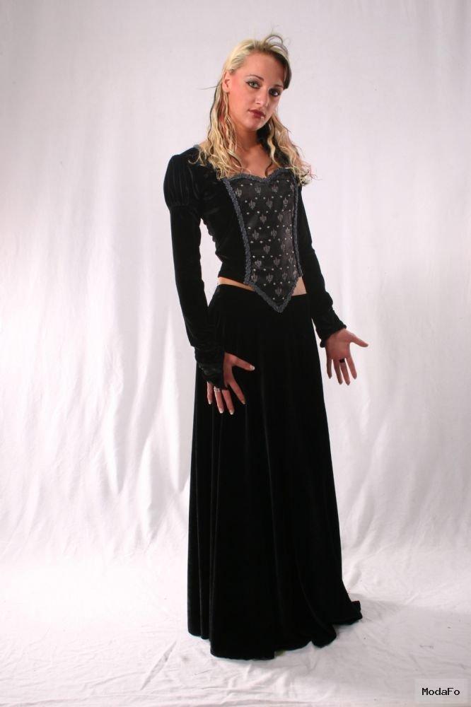 Gothic Long Velvet Skirt. Gothic Velvet Full Length Skirt 5 …