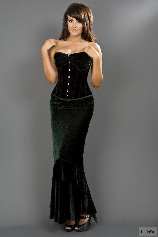 Green Mermaid Skirt | Long Fishtail Skirt | Fishtail | Burleska