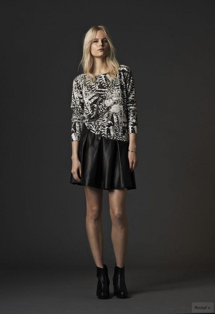 Leather skirt tribal knit #leatherskirt #skaterskirt …