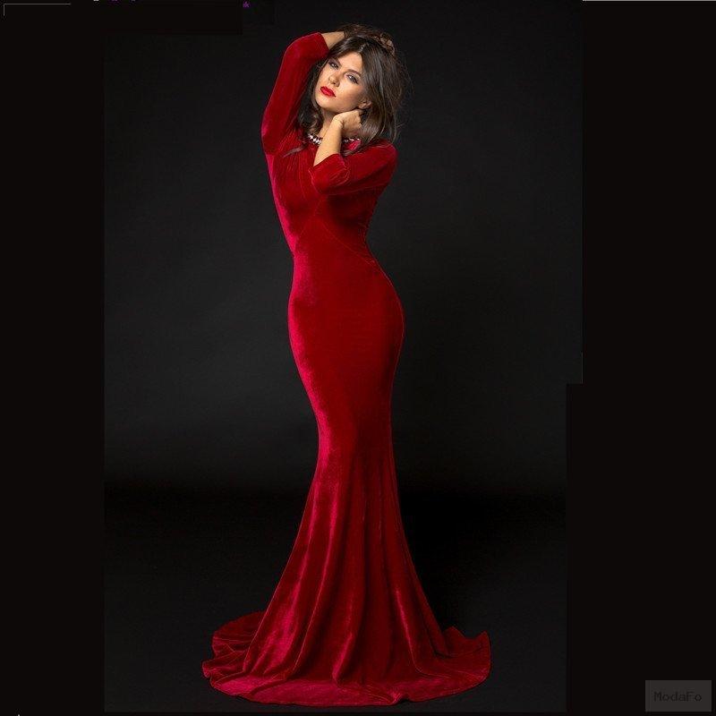 Popular Long Red Velvet Dress-Buy Cheap Long Red Velvet Dress lots …