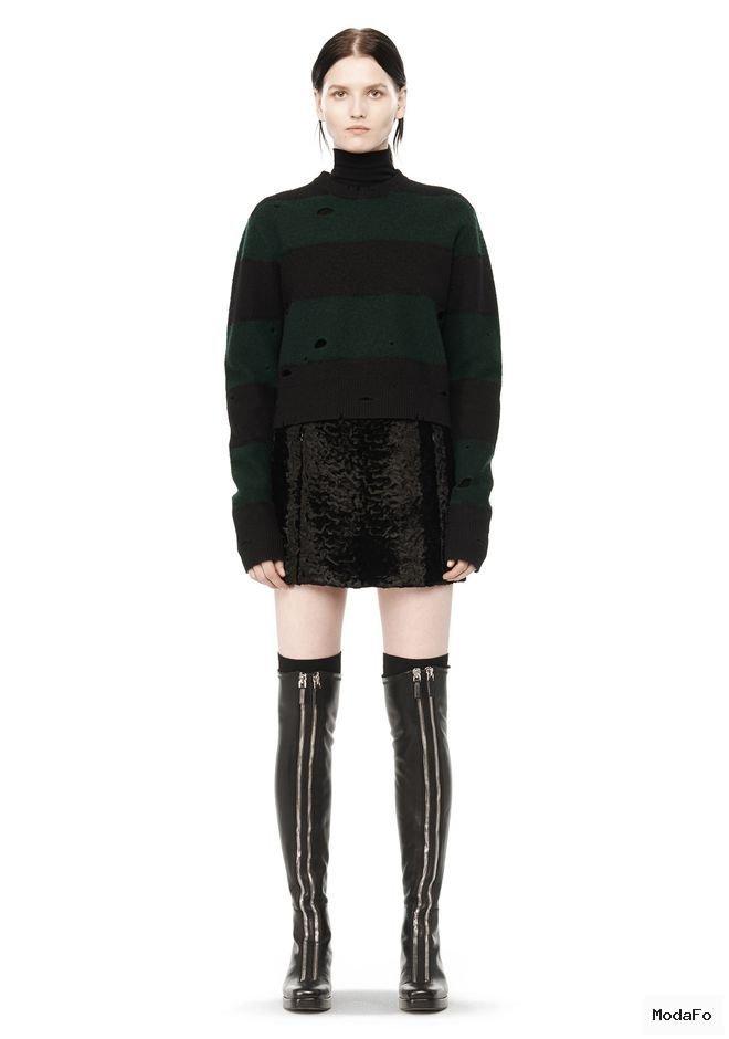 VELVET MINI SKIRT | Skirts | Alexander Wang Official Site