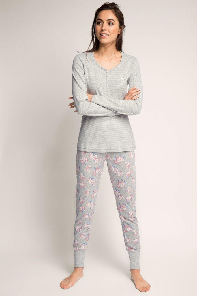 Doux pyjama, jersey de coton mélangé 2 - 59,99 €