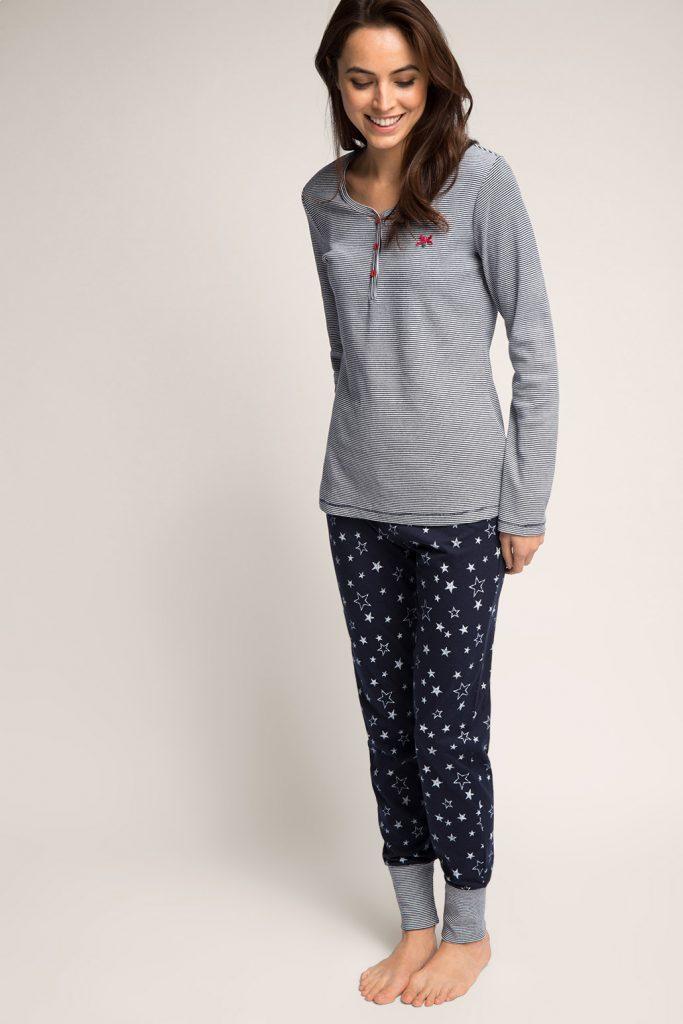Doux pyjama, jersey de coton mélangé 59,99 €