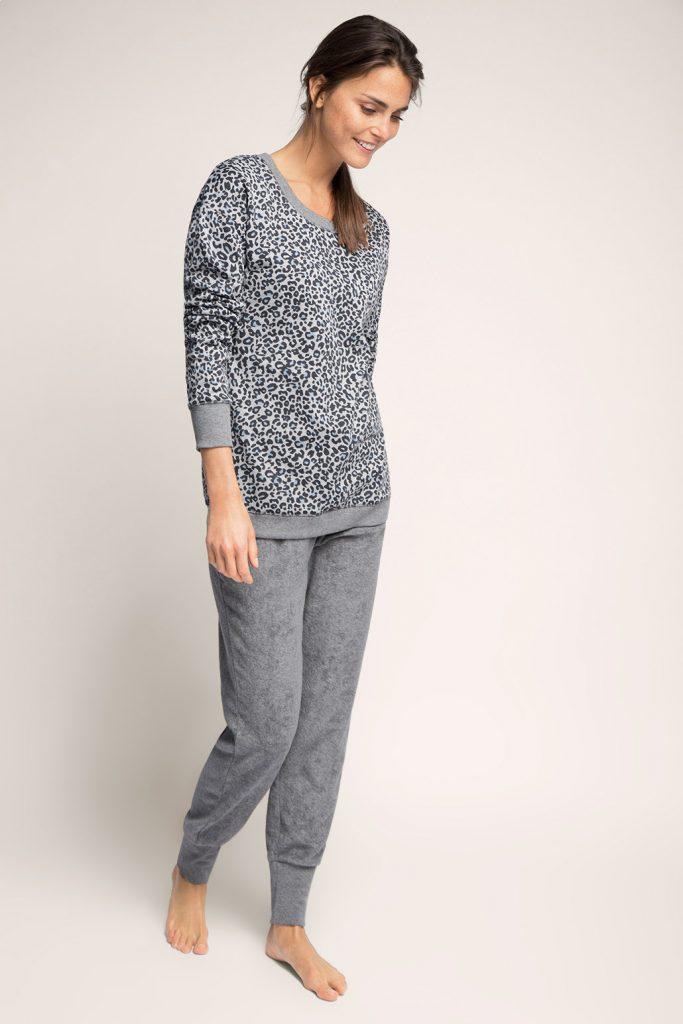 Pyjama en jersey-tissu éponge - 69,99 €
