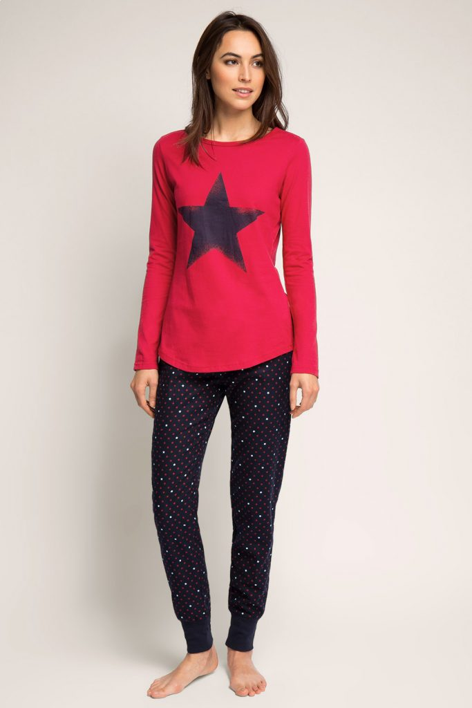 Pyjama en pur coton, matières mélangées 49.99 €