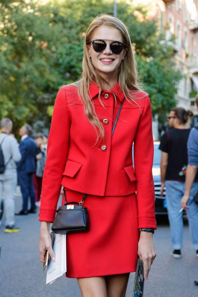 Kırmızı Kombin Önerileri 2016 Street-Style-Milan-Fashion-Week-Spring-2015-2016