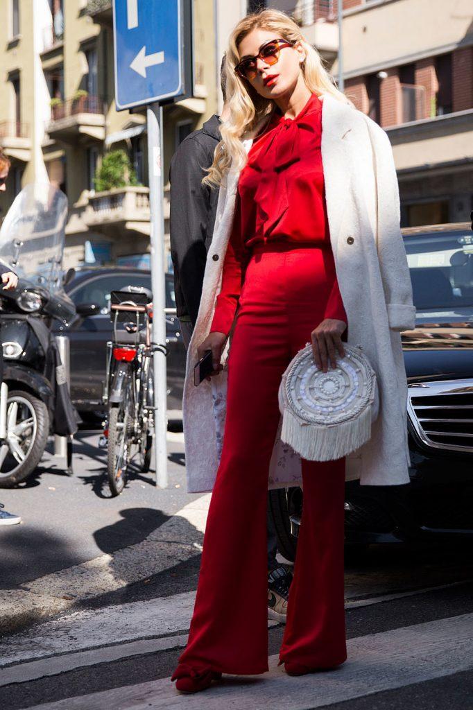 Kırmızı Kombin Önerileri 2016 - Street-Style-Milan-Fashion-Week-Spring-Summer-2016