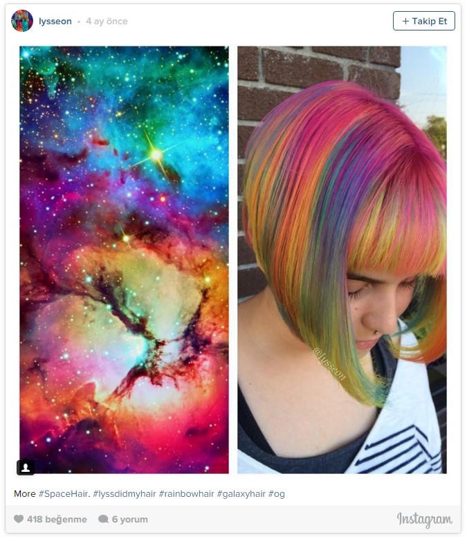 Uzay saçı, yağlı saçlardan sonra yeni trend2