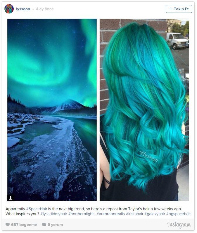 Uzay saçı, yağlı saçlardan sonra yeni trend4