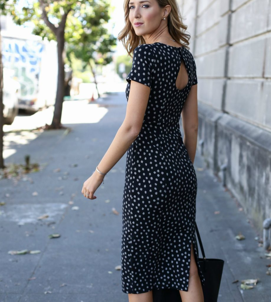 anthropologie-black-short-sleeve-sheath-dress-polka-dot-classic-work-wear-office-business-professional-women-style-fashion-(5)