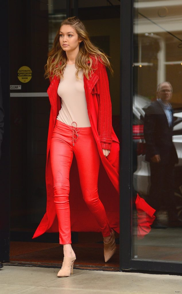 Fashion, Shopping & Style | Gigi Hadid's Red-Hot Street Style Look …
