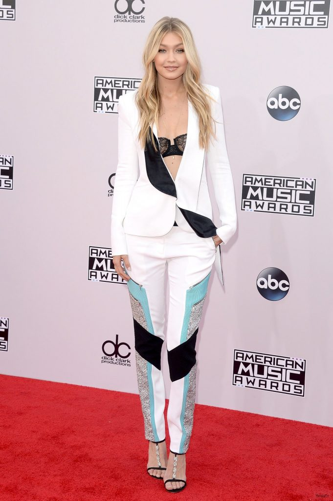 Gigi Hadid at American Music Awards 2014 | POPSUGAR Fashion