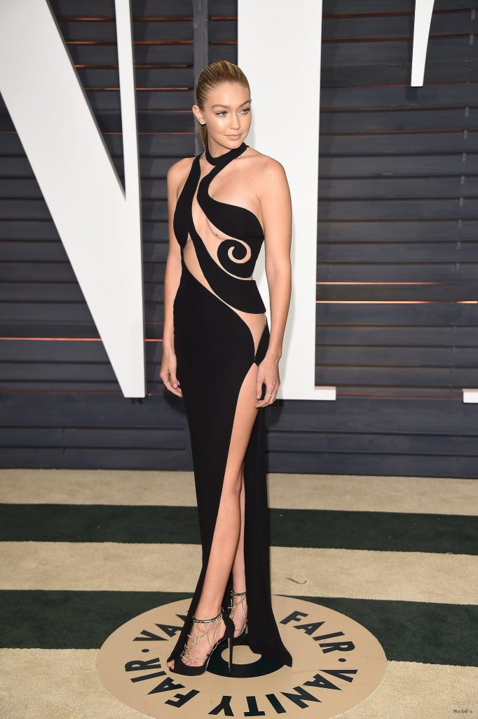 Gigi Hadid Dress at Oscars Afterparty 2015 | POPSUGAR Fashion