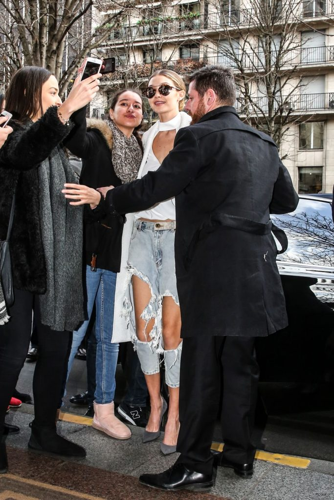 gigi-hadid-street-fashion-at- …