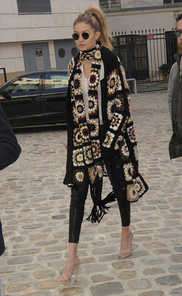 Gigi Hadid Street Fashion – Out in Paris 1/20/2016