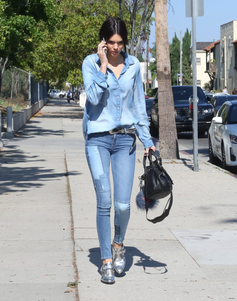 Kendall Jenner and Denim-on-Denim Street Style - Vogue
