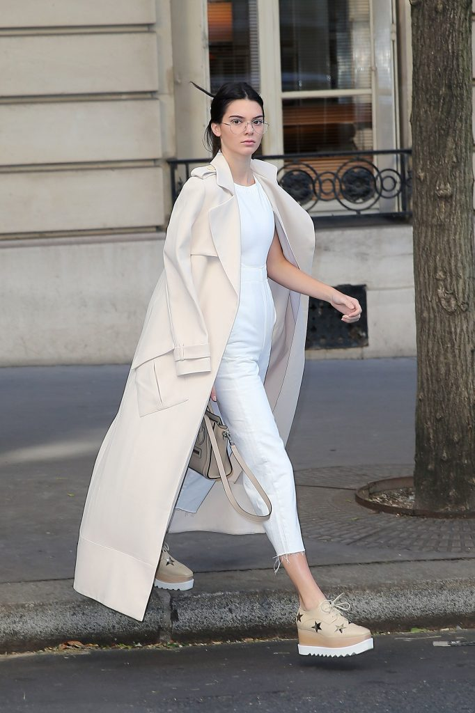 Kendall Jenner Goes Braless in Peach Gown in Paris - Kendall ...